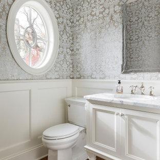 На фото: туалеты в морском стиле