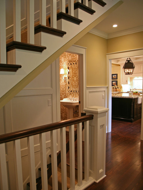 Basement Stair Landing Decorating: Open Stair To Basement Ideas, Pictures, Remodel And Decor