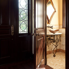 Traditional Powder Room by Fivecat Studio | Architecture