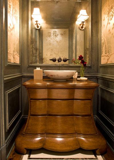 Victorian Powder Room by Harte Brownlee & Associates Interior Design