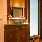 Powder Bath Vanity Contemporary Powder Room Salt Lake City By Denise Glenn Interior Design
