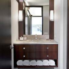 Contemporary Powder Room by Caden Design Group