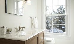 Clean White Powder Room