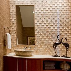 Modern Powder Room by Sweetlake Interior Design LLC