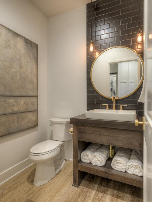 landhausstil g stetoilette g ste wc mit braunen fliesen ideen f r g stebad und g ste wc design. Black Bedroom Furniture Sets. Home Design Ideas