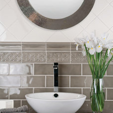 Traditional Powder Room by garden state tile