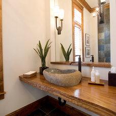 Traditional Powder Room by BlueStone Construction, LLC