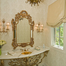 Traditional Powder Room by Jane Kelly, Designer for Airoom LLC