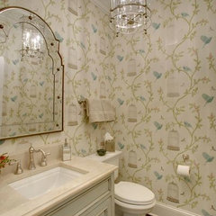 traditional powder room by A. Sadowski Designs