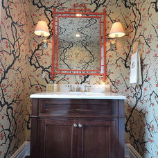 Traditional Powder Room by Priscilla Fenlin Interiors