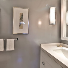 Traditional Powder Room by Taylor Hannah Architect Inc