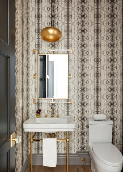 Beach Style Powder Room by Kroiss Development, Inc.