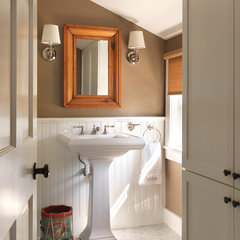 traditional powder room by Kate Jackson Design