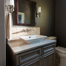 Traditional Powder Room by PKsurroundings