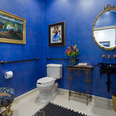 Traditional Powder Room by Fredman Design Group
