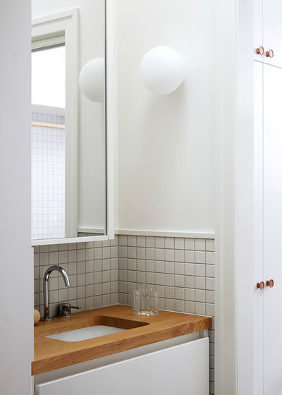 Contemporary Powder Room by Lisa Breeze Architect