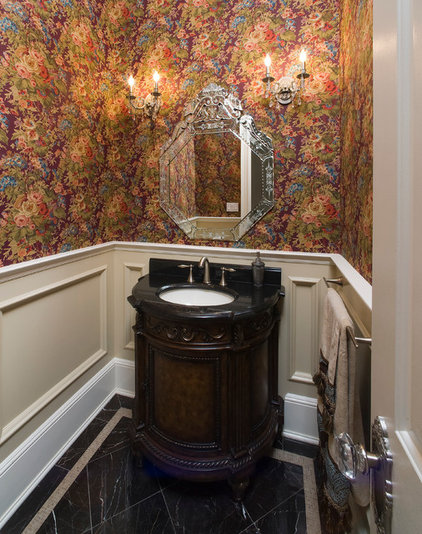 Traditional Powder Room by In-Site Interior Design
