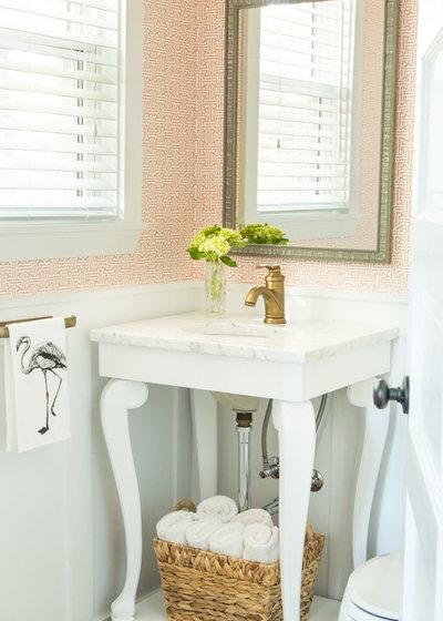 Transitional Powder Room by R Titus Designs