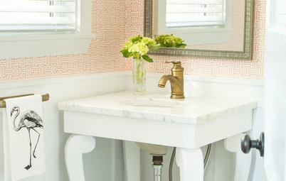 Room of the Day: Pattern-Happy Powder Room With Secret Storage