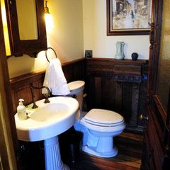 traditional powder room colonial powder room