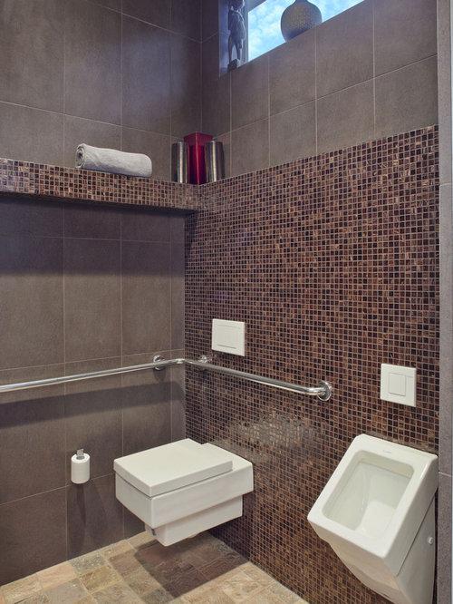 photos et id es d co de wc et toilettes avec un urinoir. Black Bedroom Furniture Sets. Home Design Ideas