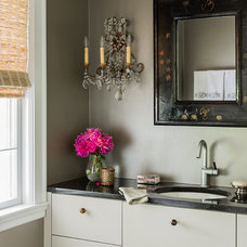 Eclectic Powder Room by Venegas and Company