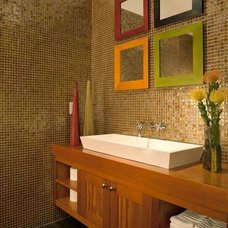 Contemporary Powder Room by Architectural Design Consultants