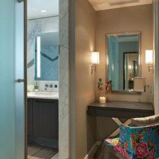 Eclectic Powder Room by Heffel Balagno Design Consultants