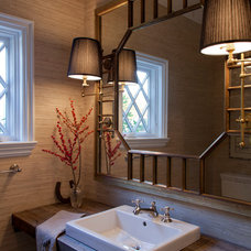Traditional Powder Room by Paul Rice Architecture