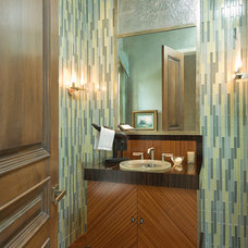 Eclectic Powder Room by Jack Arnold Companies