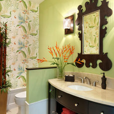 Tropical Powder Room by Julians Interiors