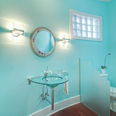 Contemporary Powder Room by Tyner Construction Co Inc