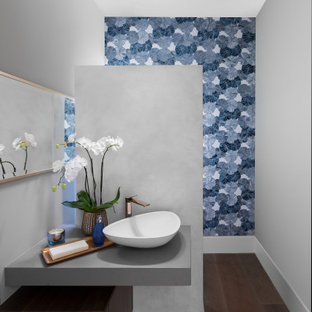Powder room - contemporary powder room idea in Los Angeles
