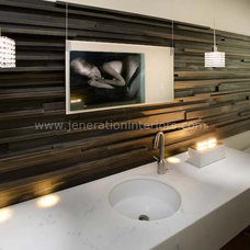 Contemporary Powder Room by Jeneration Interiors