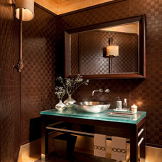 Contemporary Powder Room by SGH Designs inc.
