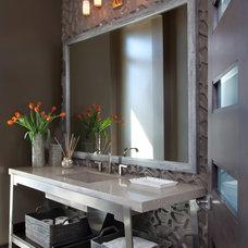 Contemporary Powder Room by Ashley Campbell Interior Design