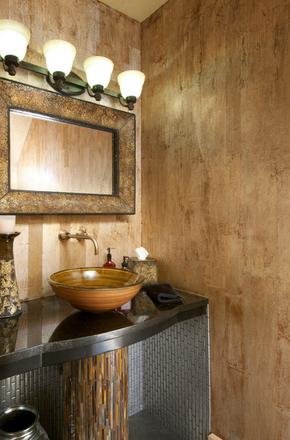 Contemporary Powder Room by Albrecht Wood Interiors