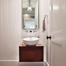 Contemporary Powder Room by Riverside Designers
