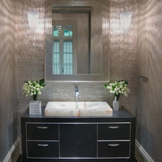 Contemporary Powder Room by Martin Perri Interiors, Inc.