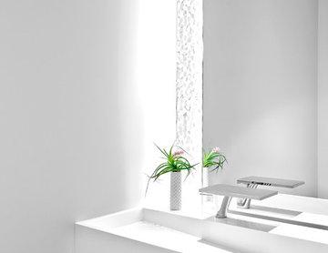 Contemporary Minimalist Powder Room