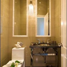 Contemporary Powder Room by Laurel Feldman Interiors, IIDA