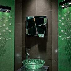 Contemporary Powder Room by Chris Jovanelly Interior Design
