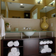 Contemporary Powder Room by Cabinet Innovations