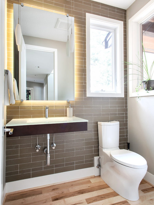 Light behind mirror home design ideas pictures remodel for 6x5 bathroom ideas