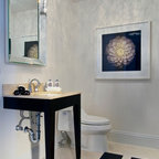 Rockledge Contemporary Powder Room Orange County