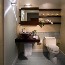 contemporary powder room by Britto Charette - Interior Designers Miami Florida