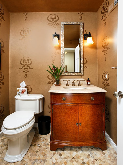Powder Room Stencil Home Design Ideas Pictures Remodel
