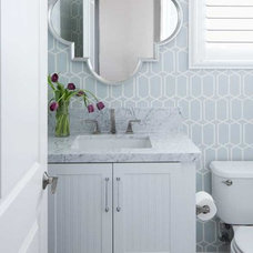 Contemporary Powder Room by Cecy J Interiors