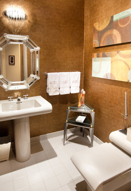 Contemporary Powder Room by DK Interiors