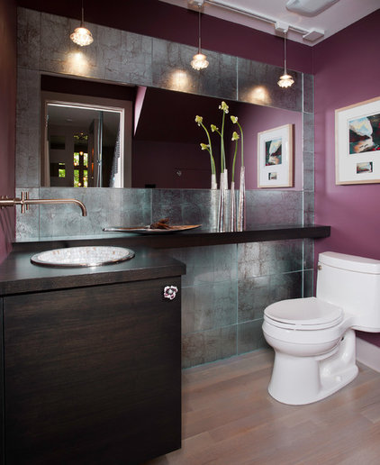 Contemporary Powder Room by Fredman Design Group